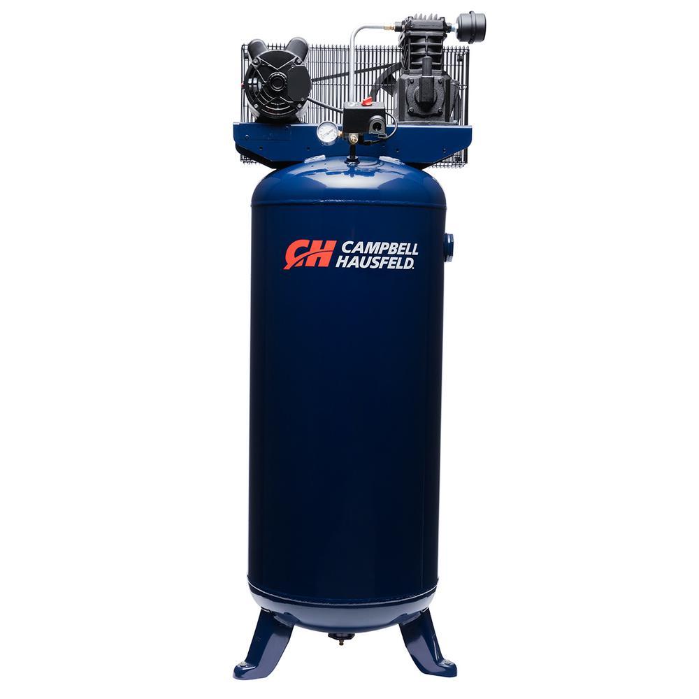 10.2 CFM 3.7 HP 230-Volt 1 PH (VT6195) 60 Gal. Electric Vertical Single-Stage Stationary Air Compressor
