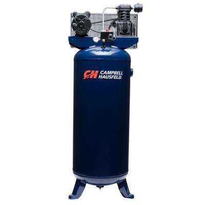 10.2 CFM 3.7 HP 230-Volt 1 PH (VT6195) 60 Gal. Electric Vertical Single-Stage Stationary Air Compressor