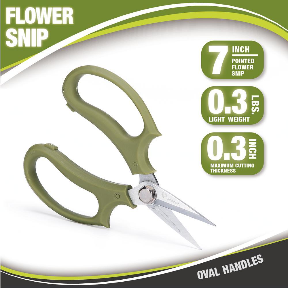 7 in. Garden Hand Flower Snip Oval Handles