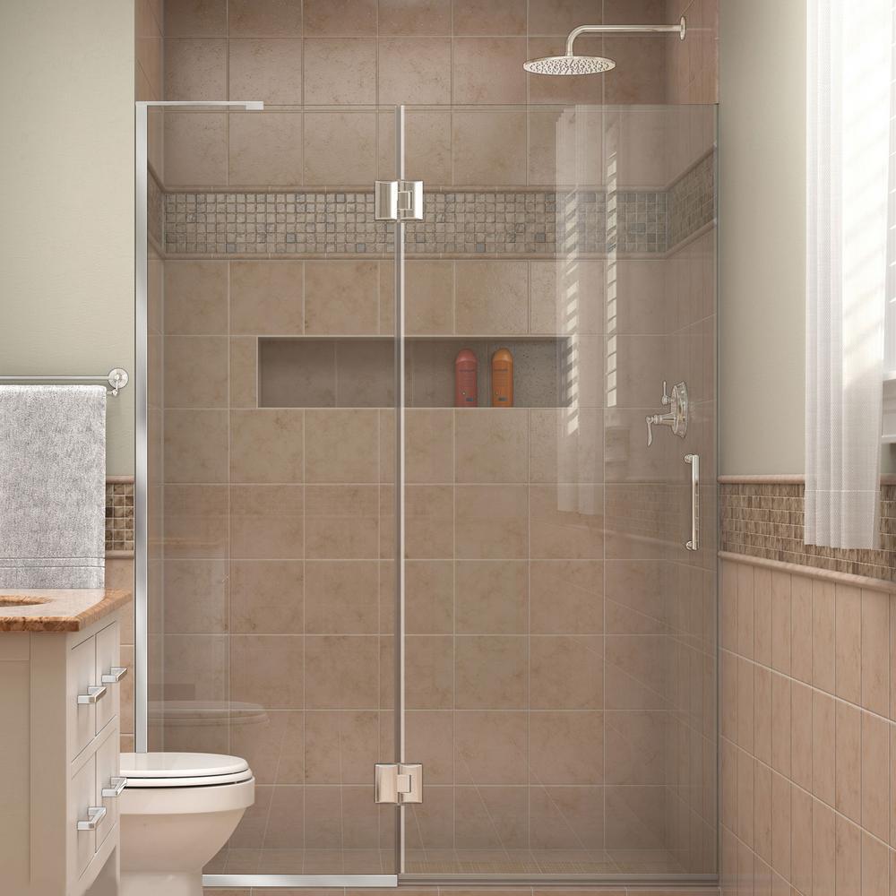 DreamLine Unidoor-X 54 in. x 72 in. Frameless Hinged Shower Door in Chrome-D33072L-01 - The Home Depot & DreamLine Unidoor-X 54 in. x 72 in. Frameless Hinged Shower Door ... pezcame.com