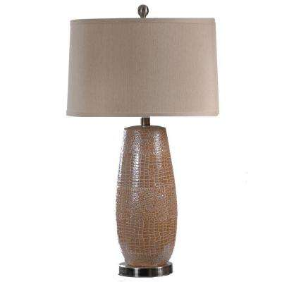29.25 in. Rouen Silver Ceramic Table Lamp