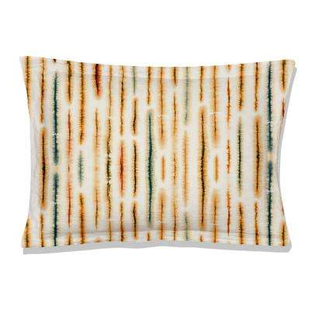 Palm Oasis Reversible Print Multi-Color 100% Organic Cotton Queen Sham (Set of 2)