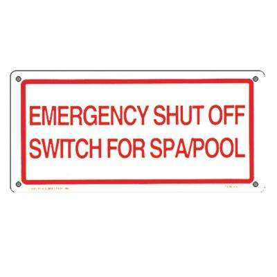 Residential or Commercial Swimming Pool Signs, Emergency Shut Off