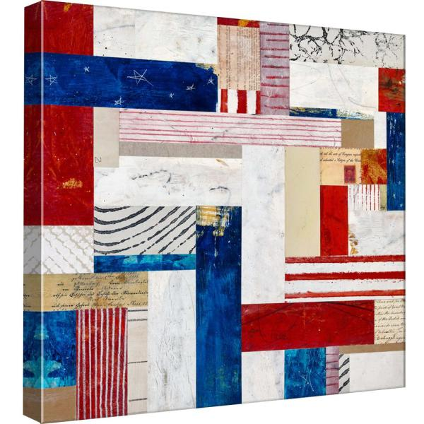 15 in  x 15 in  ''Americana 4'' Printed Canvas Wall Art
