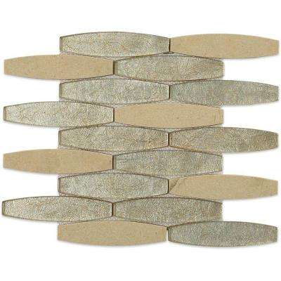 Island Japan Glass and Marble Tile - 3 in. x 6 in. Tile Sample
