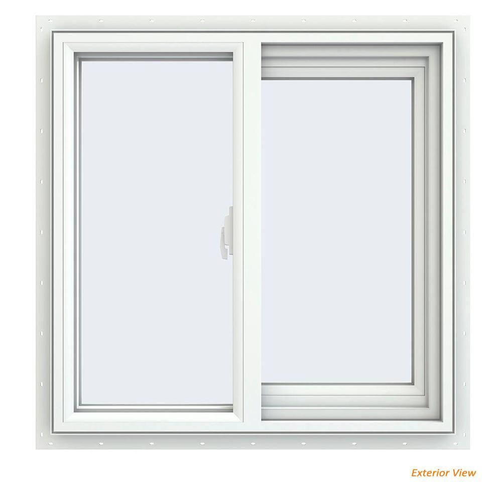 23.5 in. x 23.5 in. V-2500 Series White Vinyl Right-Handed Sliding