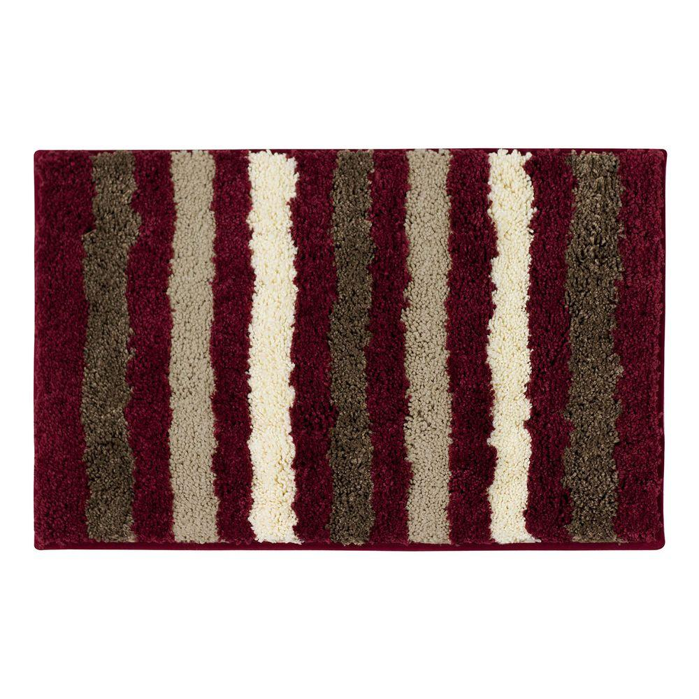 Dmitri Barn Red 18 in. x 30 in. Bath Rug