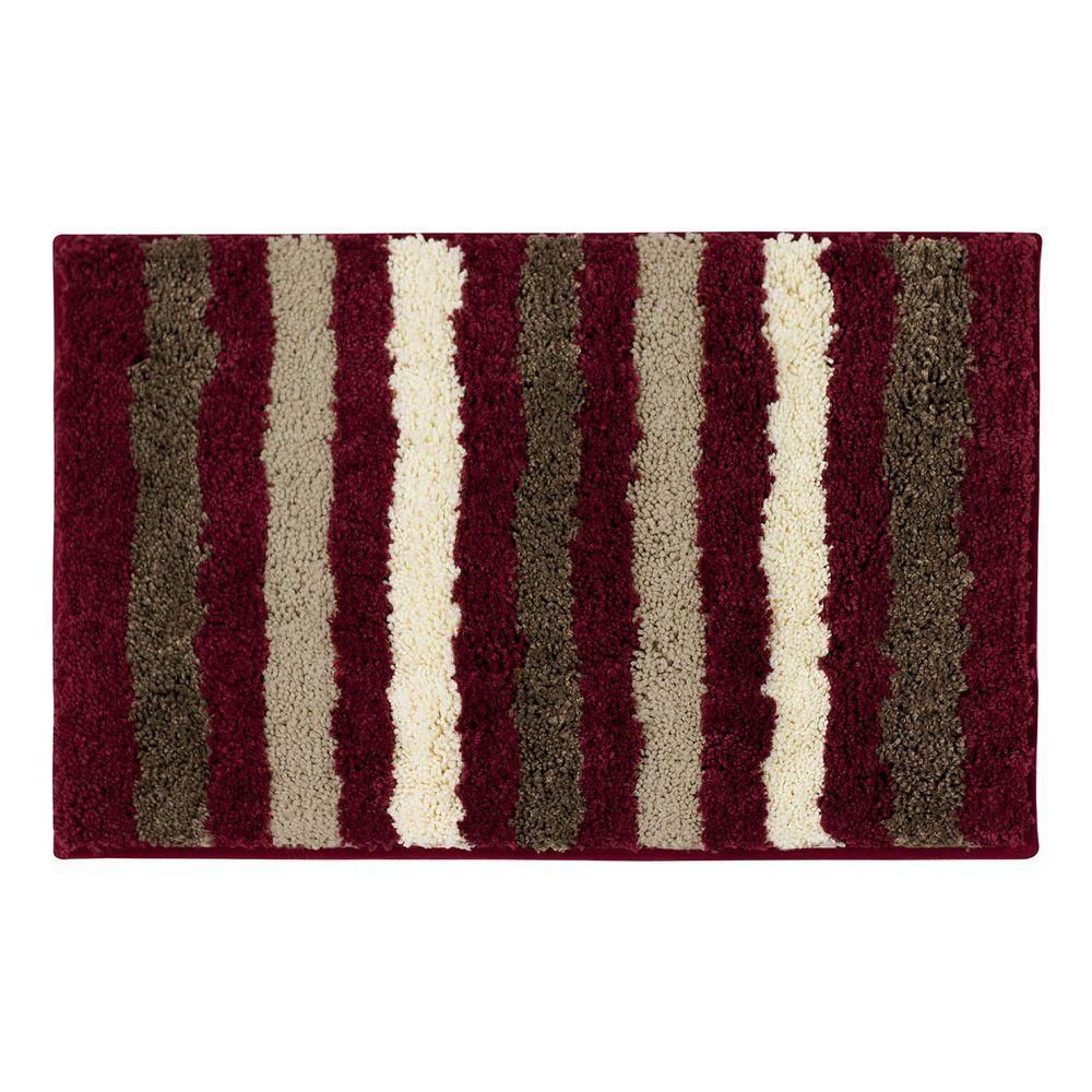 Click here to buy Bathtopia Dmitri Barn Red 18 inch x 30 inch Bath Rug by Bathtopia.
