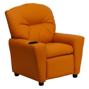 contemporary furniture for kids. interesting contemporary contemporary orange vinyl kids recliner with cup holder and furniture for m
