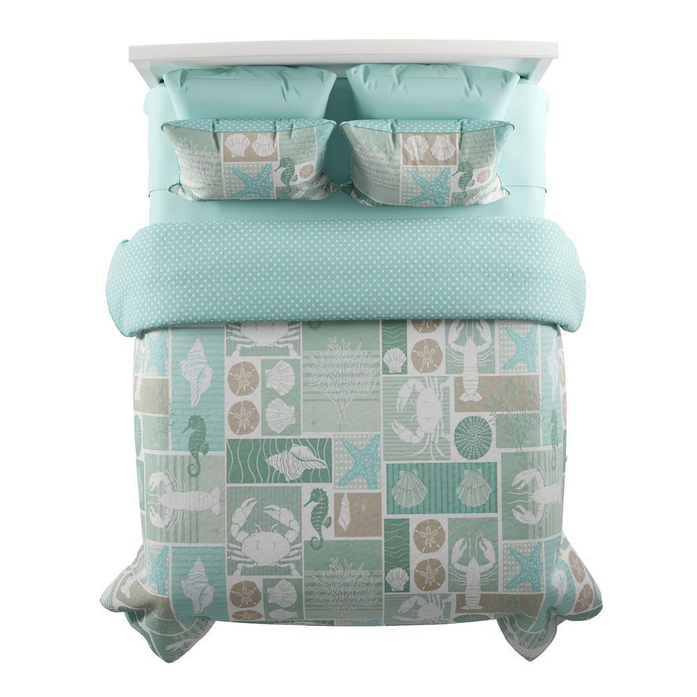 3-Piece Harbor Town Veranda Full/Queen Hypoallergenic Quilt Bedspread Set