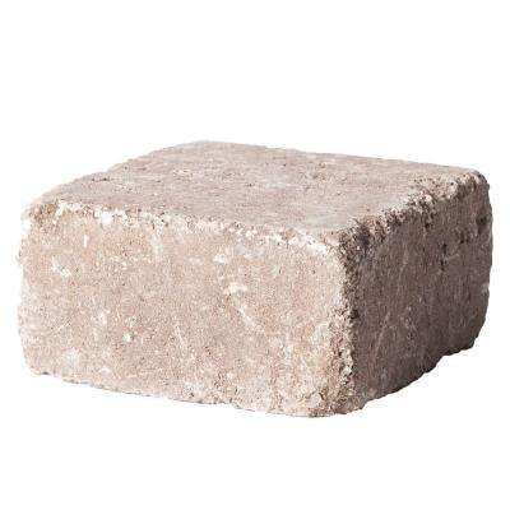 RumbleStone Medium 3.5 in. x 7 in. x 7 in. Cafe Concrete Garden Wall Block (144-Piece/24.5 Face ft. /Pallet)
