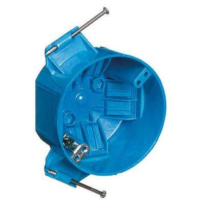 20 cu. in. Blue Polycarbonate Round New Work Ceiling Electrical Box