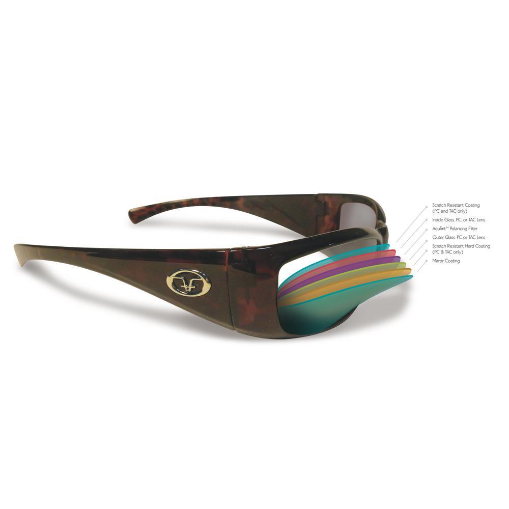 Flying Fisherman Cali Polarized Sunglasses Black Frame Amber Lenses 7305BA