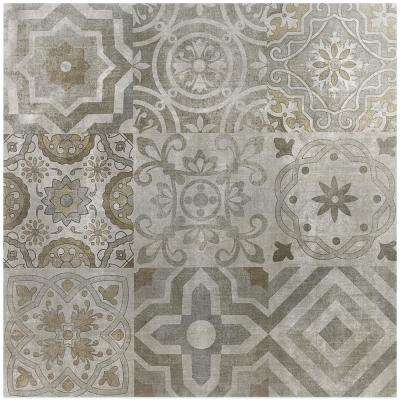 Essential Cement Deco 24 in. x 24 in. 10mm Matte Porcelain Floor and Wall Tile (4-piece, 15.49 sq. ft. / box)