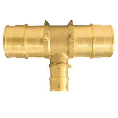 1 in. x 1 in. x 1/2 in. Brass PEX-A Expansion Barb Reducing Tee