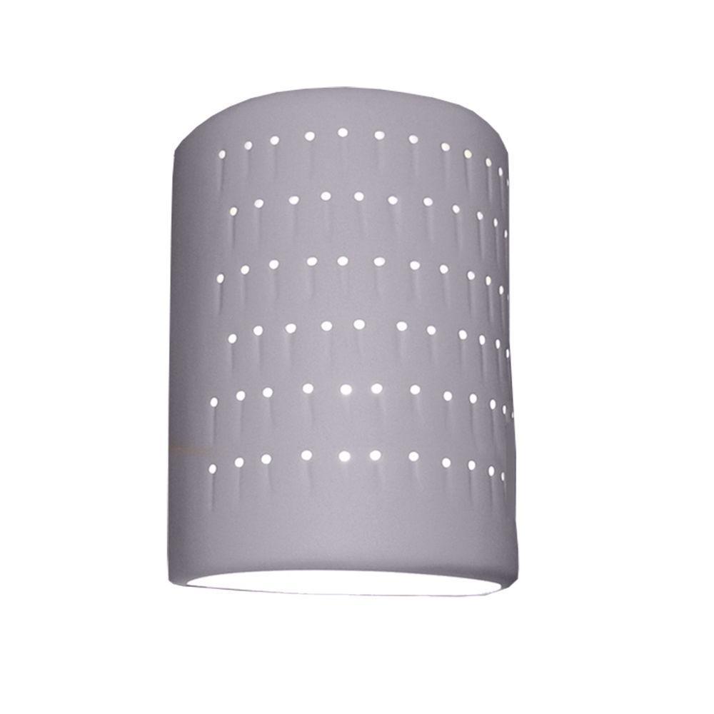 Filament Design Franklin Bisque Grey Ceramic Outdoor Wall Sconce