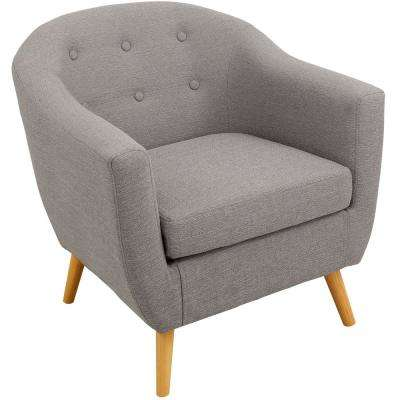 Rockwell Light Grey Accent Chair