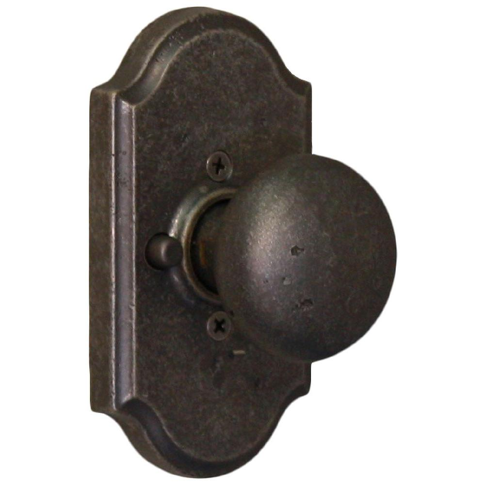 Weslock Molten Bronze Weathered Pewter Premiere Privacy Wexford Knob-DISCONTINUED