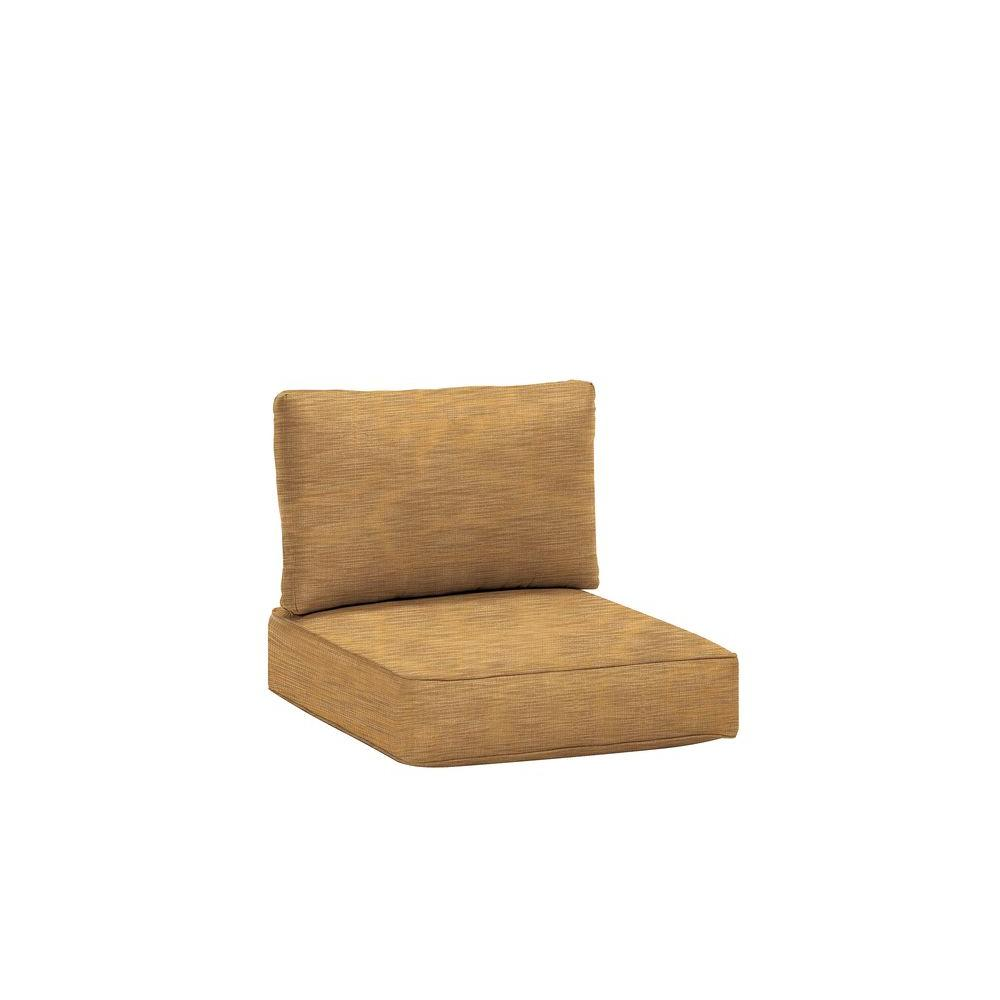 Northshore Patio Left Arm Sectional Replacement Cushions in Toffee