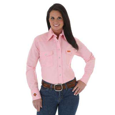 Women's Size Extra-Large Pink Western Shirt