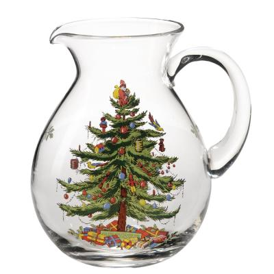 Christmas Tree 6 pt. Glass Pitcher