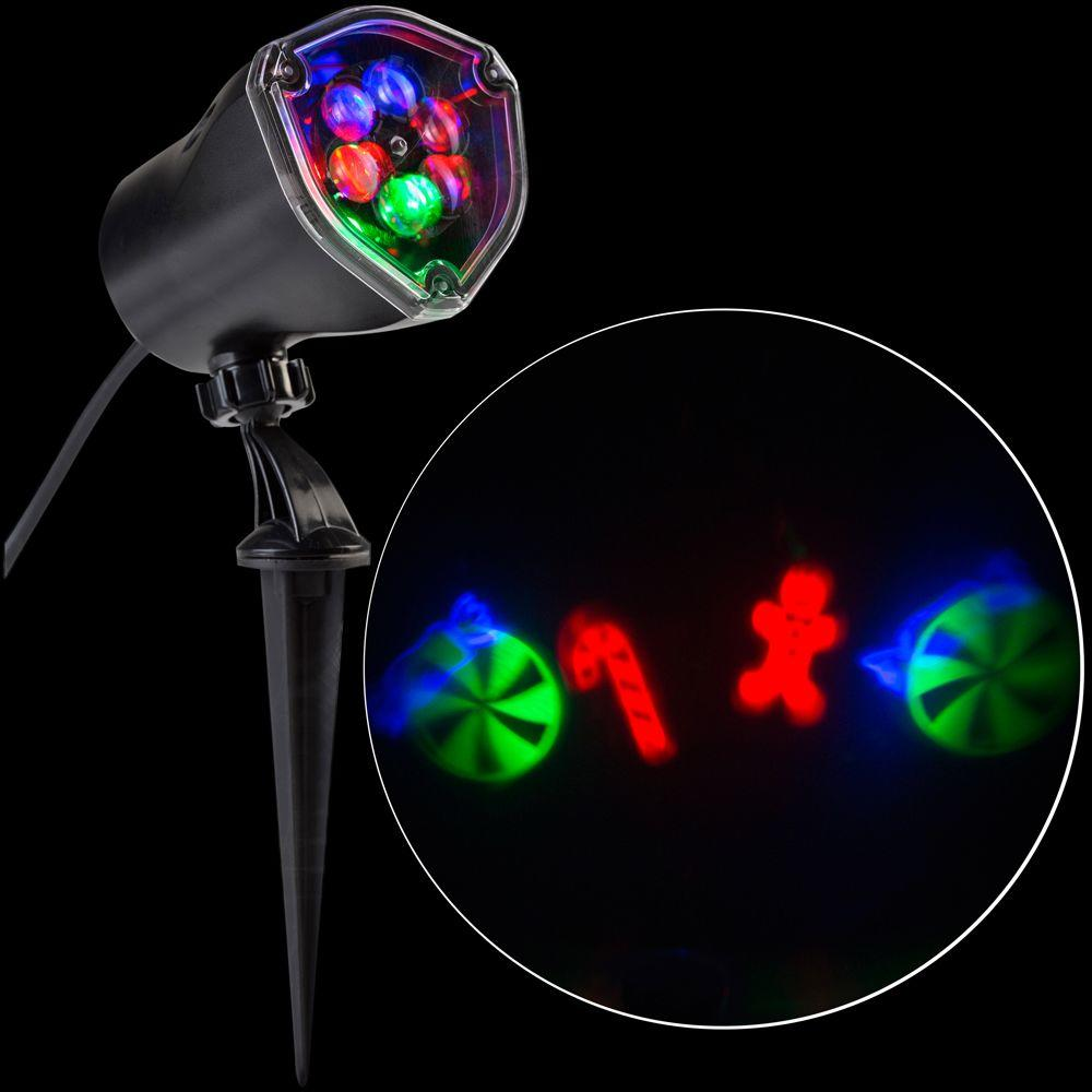LightShow LED Projection-Whirl-a-Motion-Candy Cane Mix RRGB Stake ...