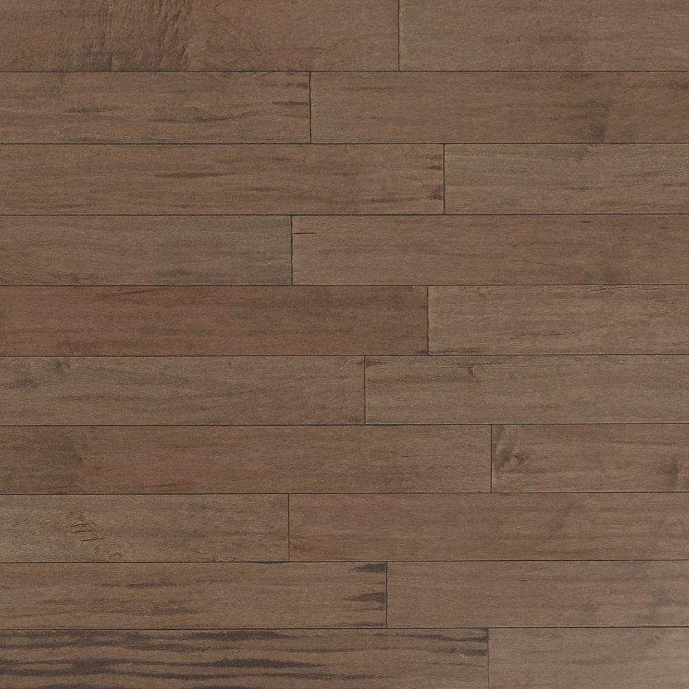 Heritage Mill Scraped Maple Tranquil Fog 3/8 in. x 4-3/4 in. Wide x Random Length Engineered Click Hardwood Flooring (33 sq. ft./case)
