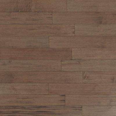 Scraped Maple Tranquil Fog 3/8 in. x 4-3/4 in. Wide x Random Length Engineered Click Hardwood Flooring (33 sq. ft./case)