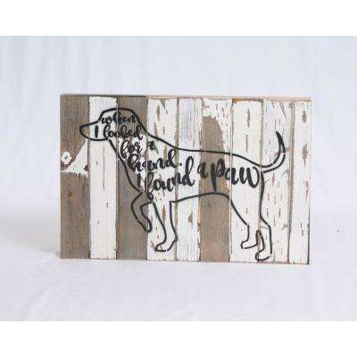 """I Found A Paw"" Reclaimed Wood Decorative Sign"