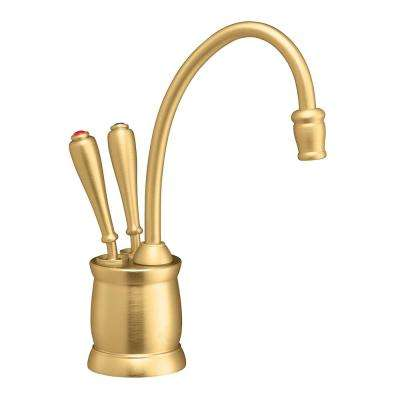 Indulge Tuscan 2-Handle Instant Hot and Cold Water Dispenser Faucet in Brushed Bronze