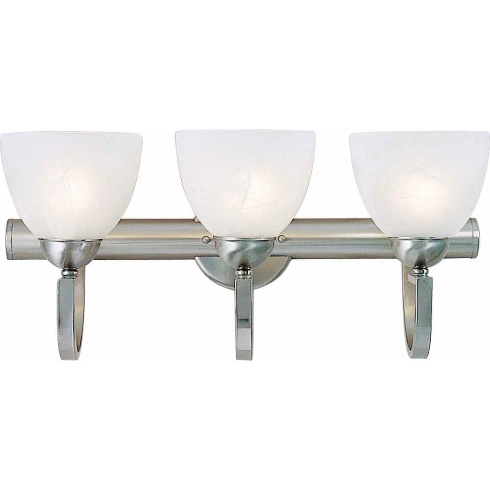 Volume Lighting 3-Light Brushed Nickel Bath And Vanity