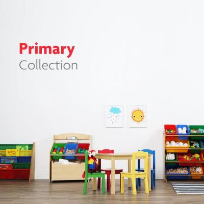 Primary Collection Natural 3-Tier Storage Organizer with Rolling Toy Box