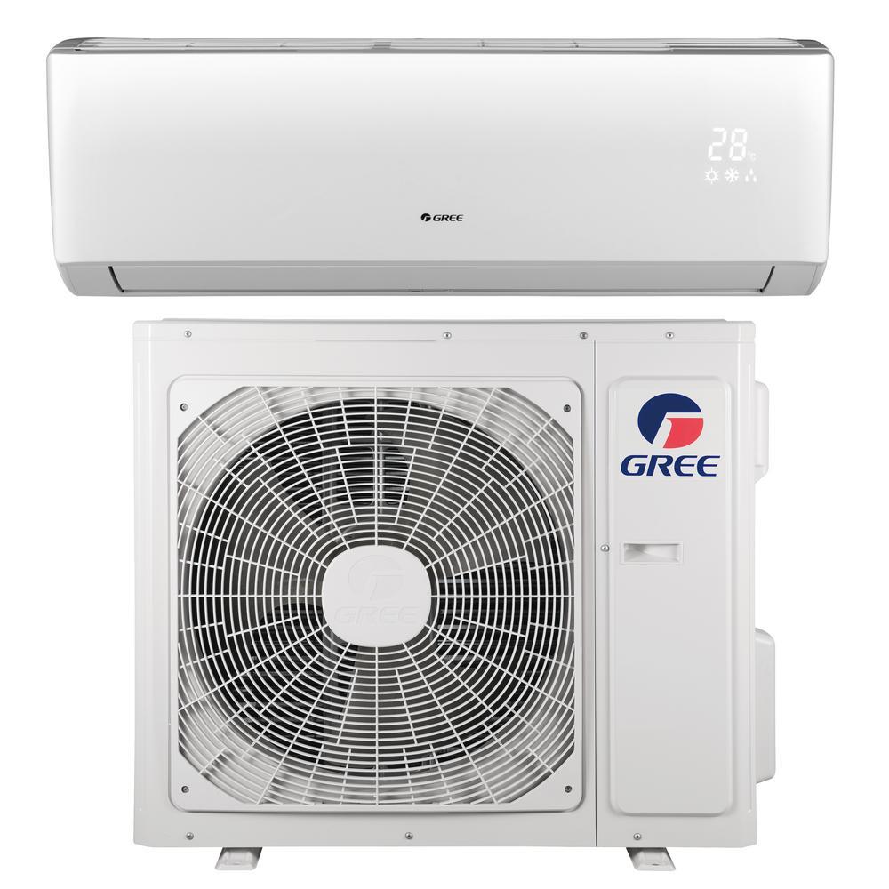 GREE LIVO 18,000 BTU 1 5 Ton Ductless Mini Split Air Conditioner with  Inverter, Heat, Remote 208-230-Volt/60 Hz