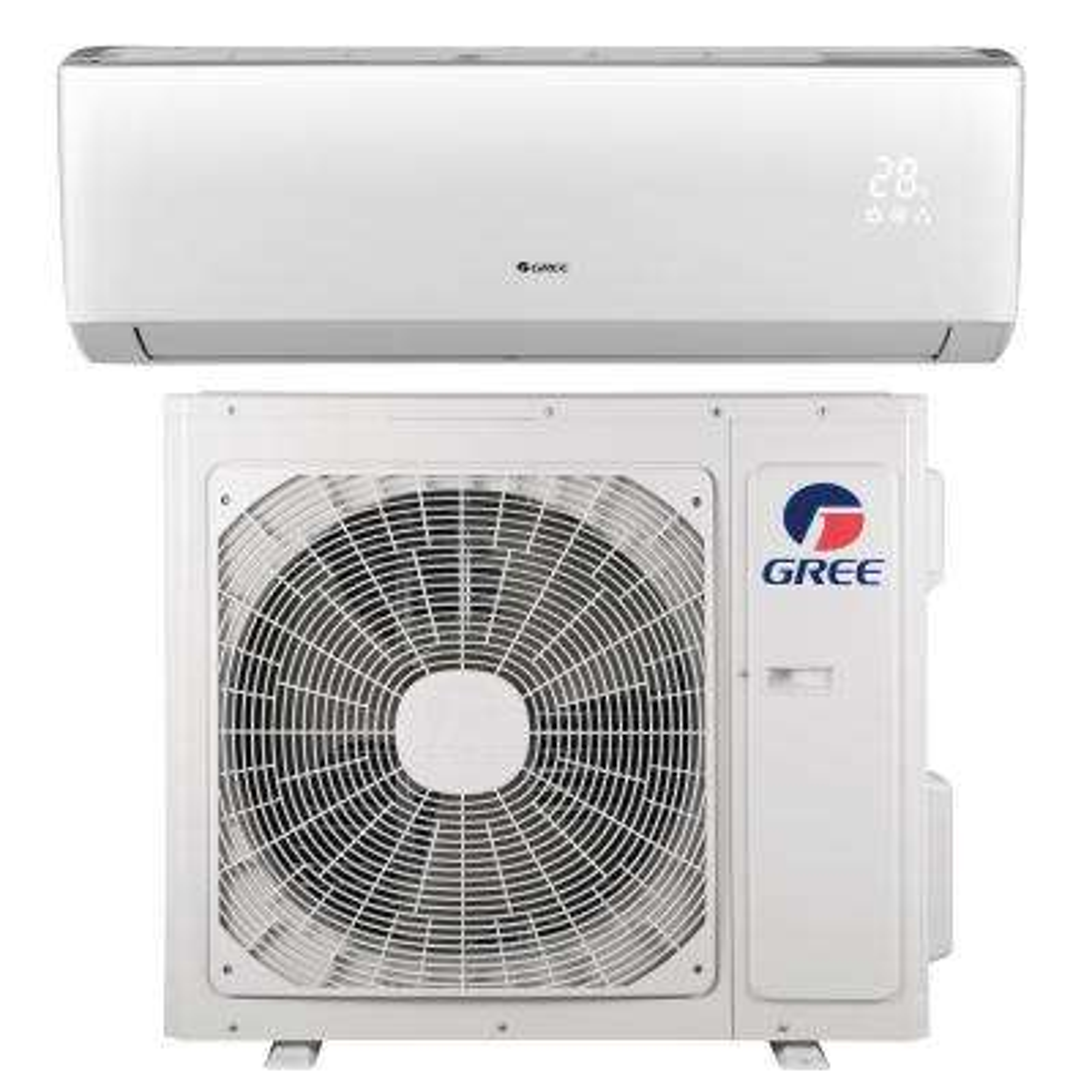 LIVO 18,000 BTU 1.5 Ton Ductless Mini Split Air Conditioner with Inverter, Heat, Remote 208-230V/60Hz