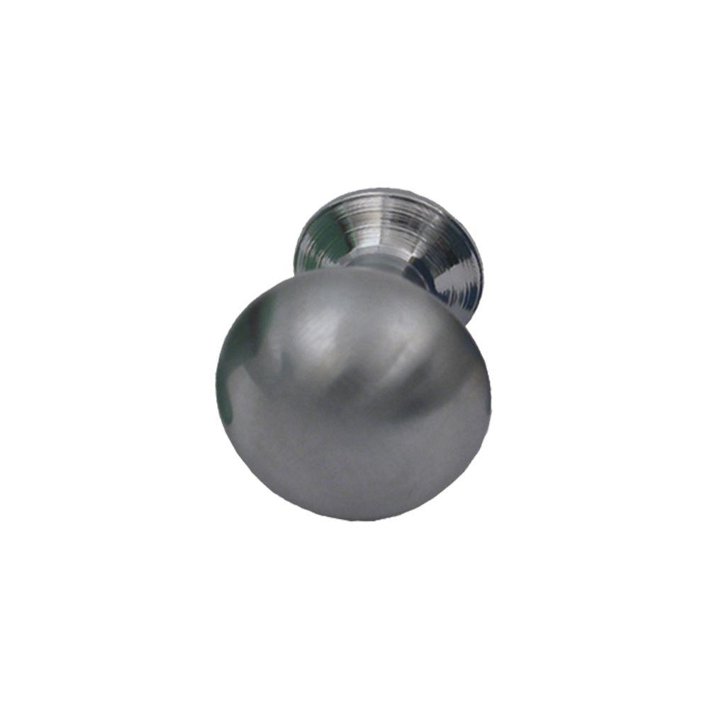 1 in. Brushed Chrome Cone Shaped Knob