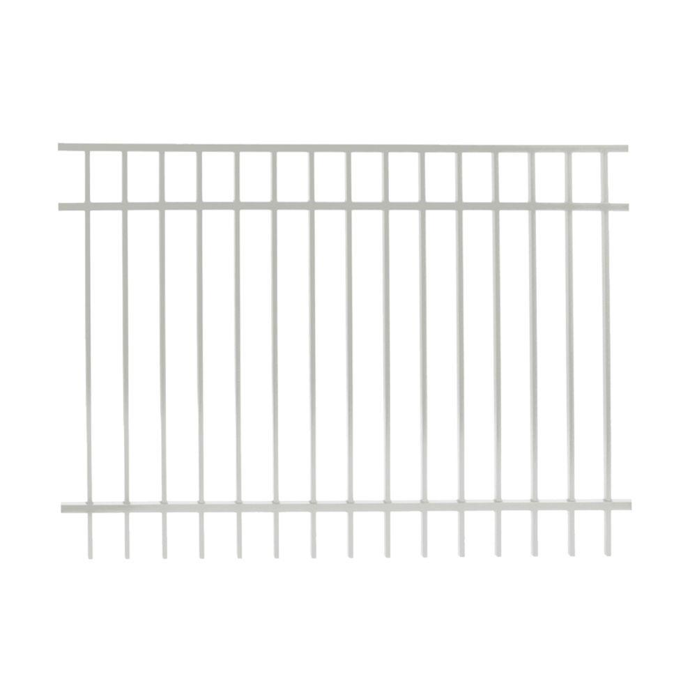 Vinnings 4.5 ft. H x 6 ft. W White Aluminum Fence