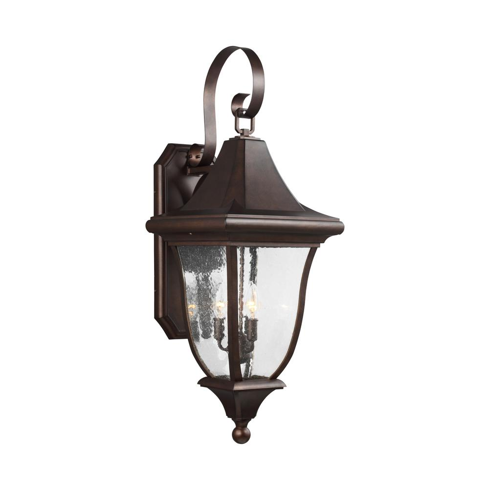Oakmont 3-Light Patina Bronze Outdoor Wall Lantern
