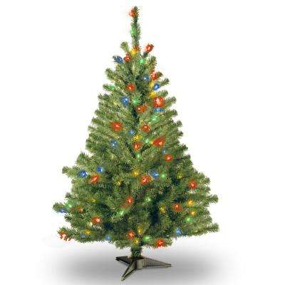 6 ft. Kincaid Spruce Artificial Christmas Tree with Multicolor Lights