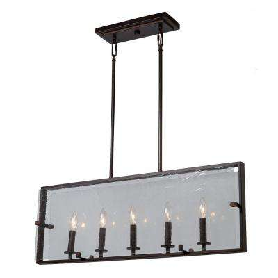 5-Light Oil Rubbed Bronze Billiard Light