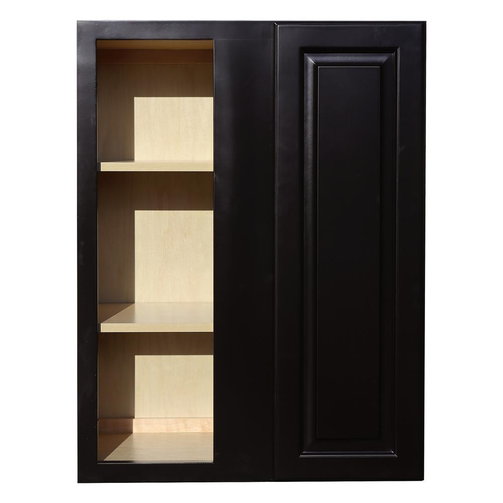 Beau LIFEART CABINETRY La. Newport Assembled 27x36x12 In. 1 Door Wall Blind Corner  Cabinet
