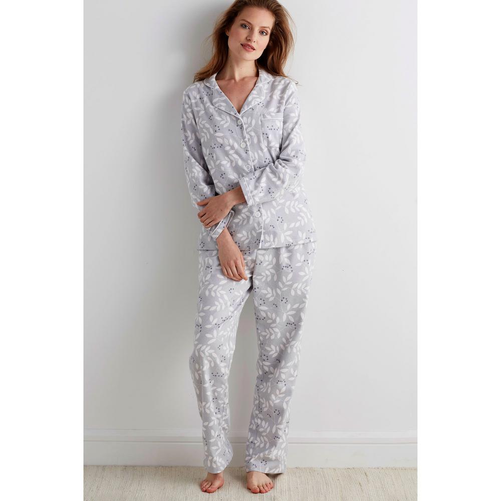 34eb79c4b2c0 Cotton Flannel Women. The Company Store Cotton Flannel Women s 2X Large  Bayberry Pajama Set