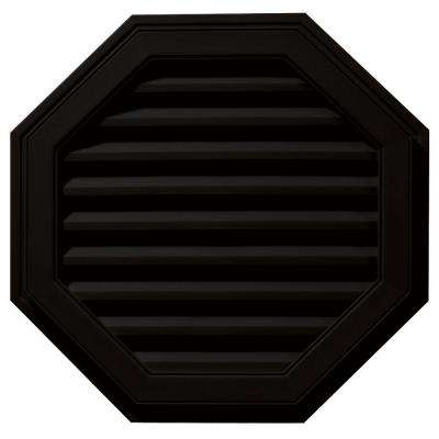 27 in. Octagon Gable Vent in Black