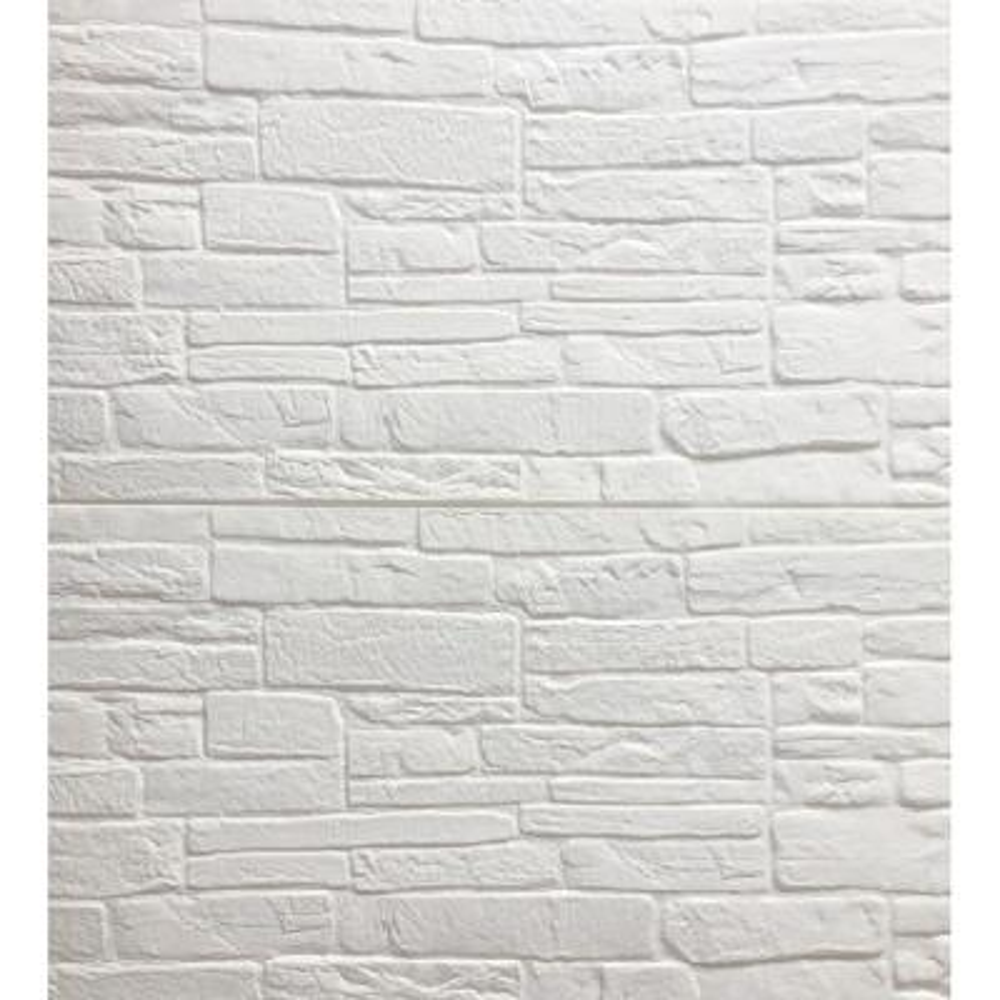 Falkirk Jura II 28 in. x 28 in. Peel and Stick Cream, Off White Faux Bricks PE Foam Decorative Wall Paneling (10-Pack)