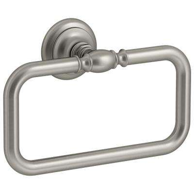Artifacts Towel Ring in Vibrant Brushed Nickel