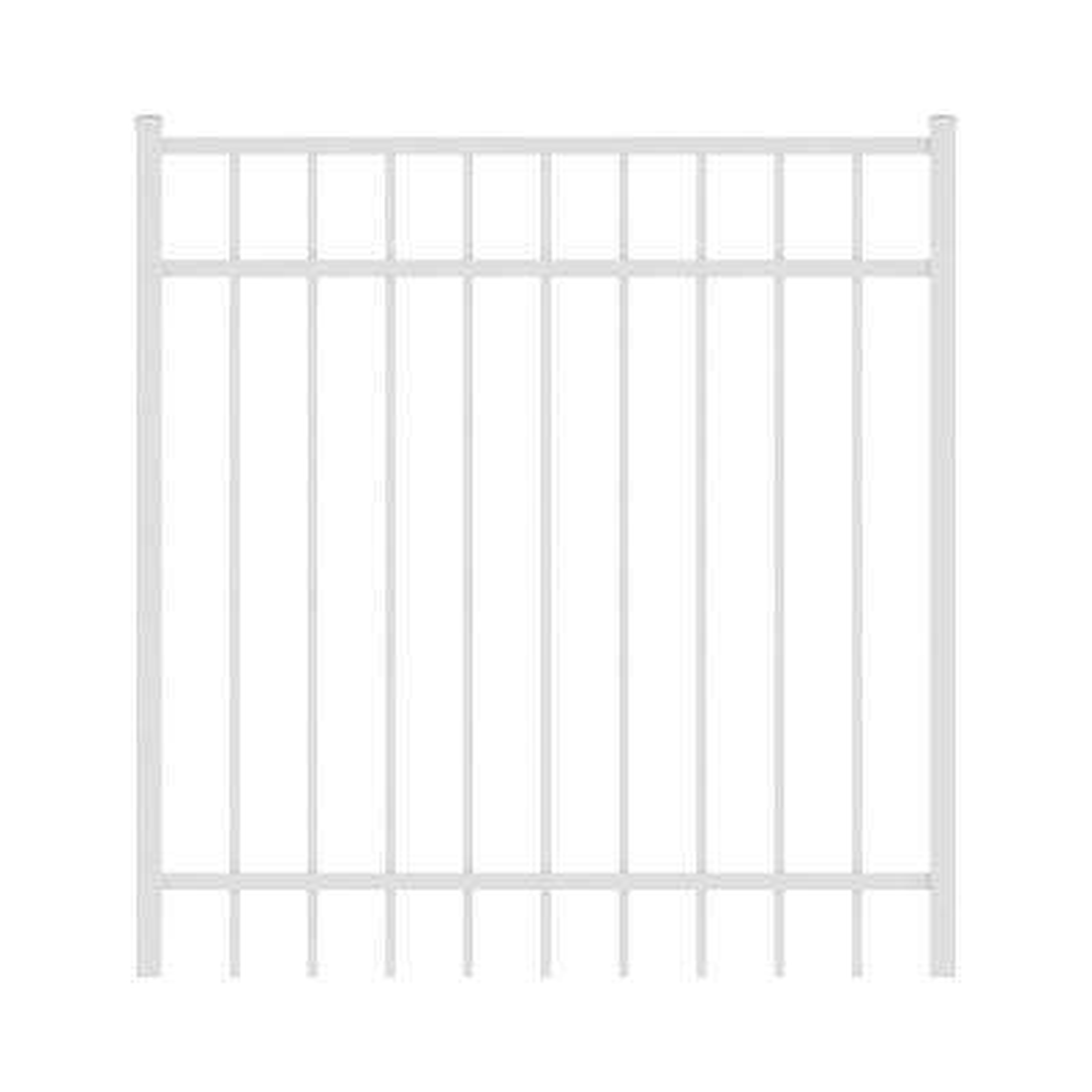 Vinings 4 ft. W x 4 ft. H White Aluminum Pre-Assembled Fence Gate