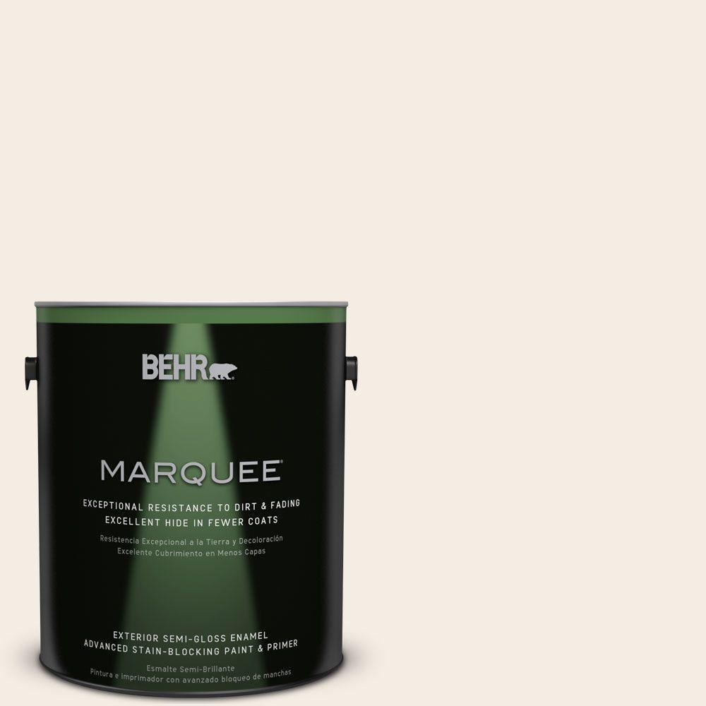 BEHR MARQUEE 1-gal. #PPU5-9 Bleached Linen Semi-Gloss Enamel Exterior Paint