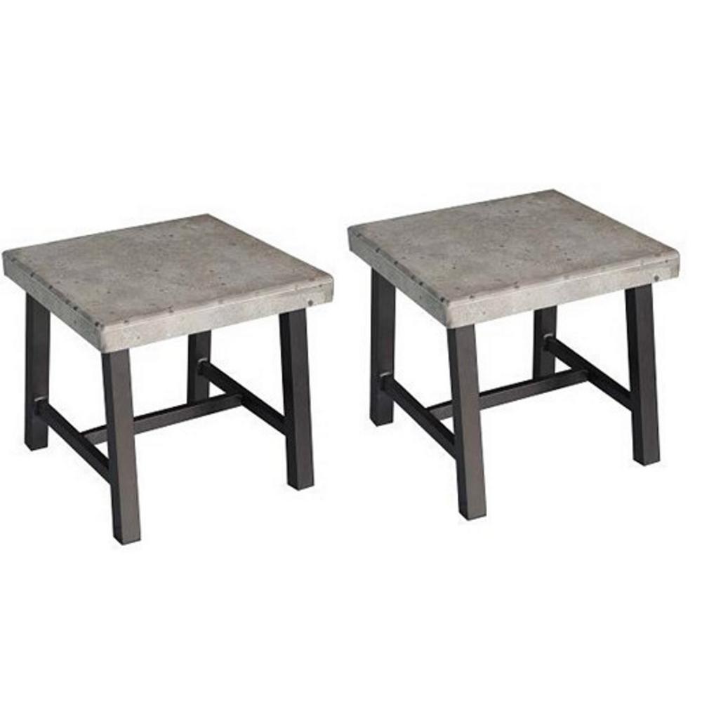 Beau Honeycomb Hamma Square Aluminum Outdoor Side Table (2 Set)