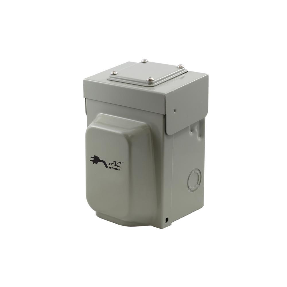 30 Amp Locking 4-Prong L14-30 Heavy Duty Temporary Generator Transfer Switch Power Inlet Box