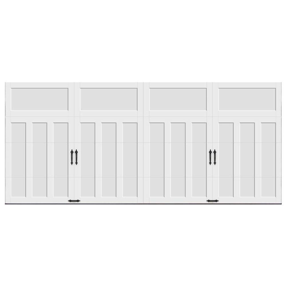 Clopay Coachman Collection 16 ft. x 7 ft. 18.4 R-Value Intellicore Insulated Solid White Garage Door