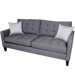 Draper Gray Contemporary Sofa by